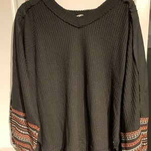 Textured Long Sleeve Blouse *never worn*